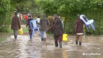 Severe flooding displaces hundreds in small Kenyan village