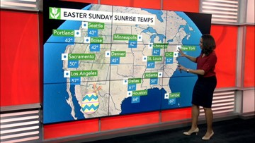 Easter Sunday Unsettled conditions in store for Northeast, interior West