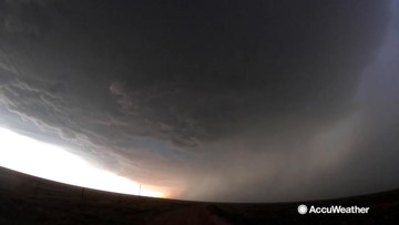 Impressive supercell timelapse captured by storm chaser Reed Timmer