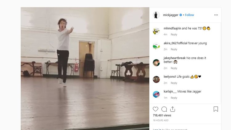 Watch Mick Jagger, 75, dance after heart surgery and feel young again