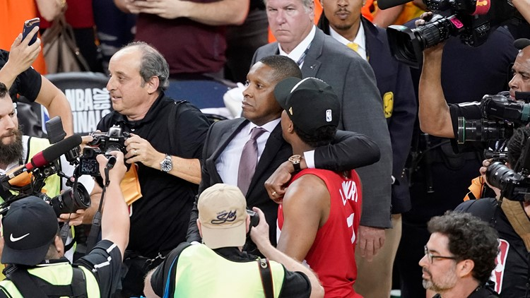 Raptors President Deputy Hit Basketball