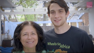 Mother and son bring thousands of bikes to Africa