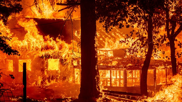 Dixie Fire burns homes as blazes scorch West