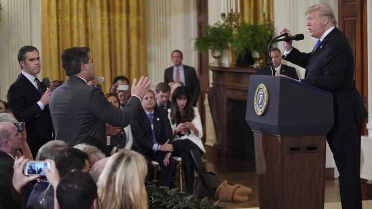 Trump and Jim Acosta confrontation Nov 7