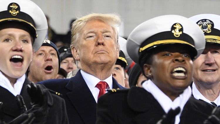 army navy trump