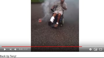 Man in 'Back up Terry' video gets new wheelchair