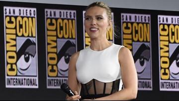Scarlett Johansson reveals massive engagement ring at Comic-Con