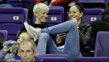 Sue Bird gushes about girlfriend Megan Rapinoe, defends her against Trump