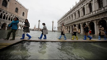 Venice faces dramatic flooding for 2nd time this week