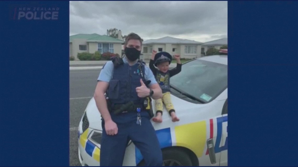 New Zealand police answer boy's call to see his cool toys