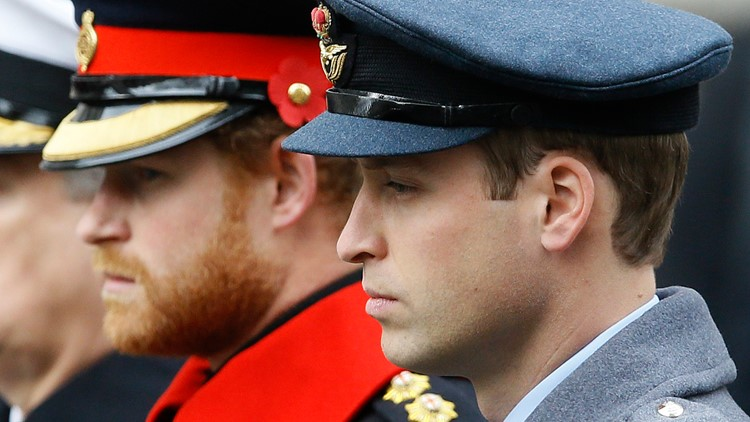 Princes William, Harry won't walk side-by-side at Prince Philip's funeral