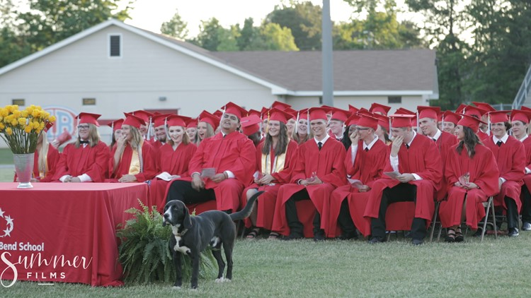 Dog crashes Alabama high school's graduation, causes hilarious scene