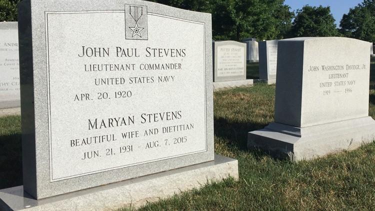 Supreme Court Stevens Burial