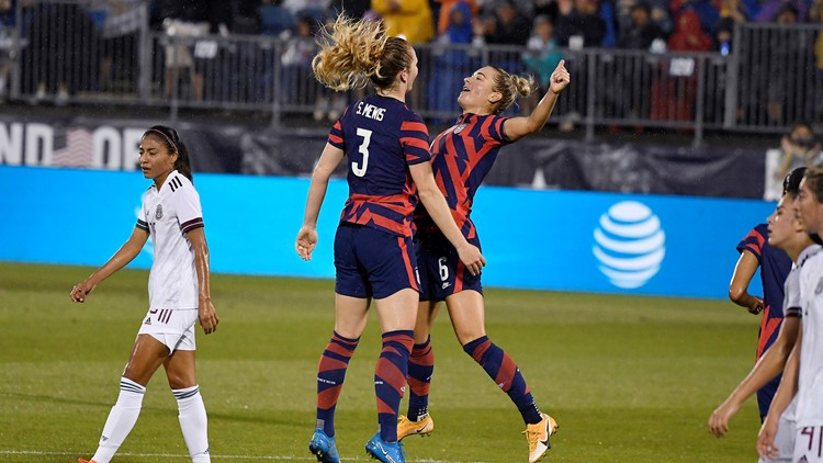 US women beat Mexico 4-0 in Olympic tune-up match