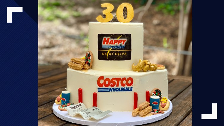 Magnificent Bakers Amazing Costco Birthday Cake Includes Samples Churros Personalised Birthday Cards Cominlily Jamesorg
