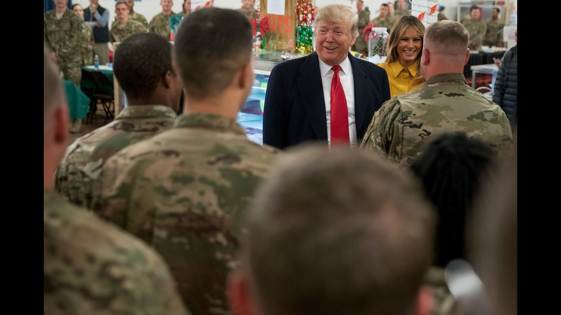 President Donald Trump claim to troops about pay raises ...