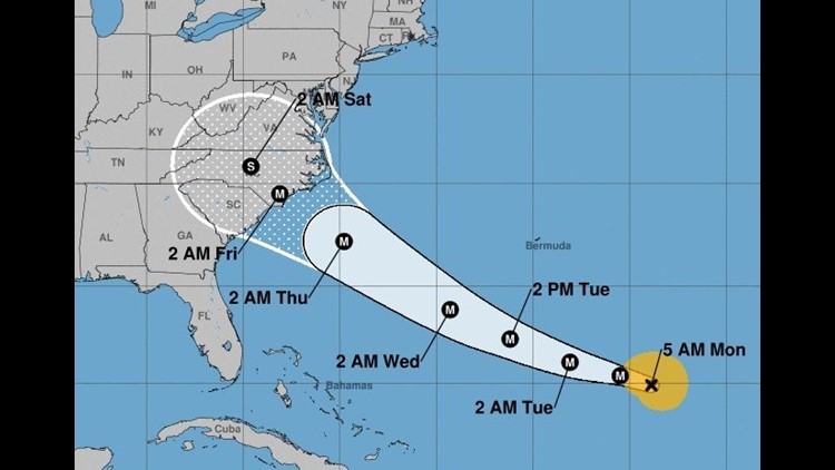 Every big U.S. carrierflying to the region had waived change fees for Hurricane Florence, which could come ashore by Friday.