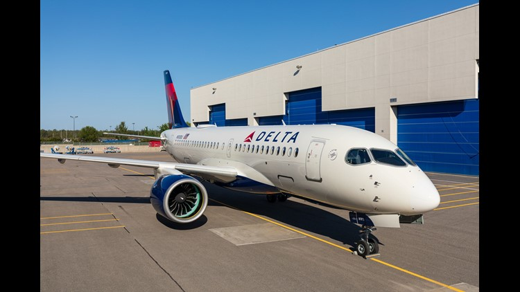 """The aircraft, known as the """"Bombardier CSeries""""until it was rebranded in July, is expected to begin flying for Delta Air Lines in early 2019."""