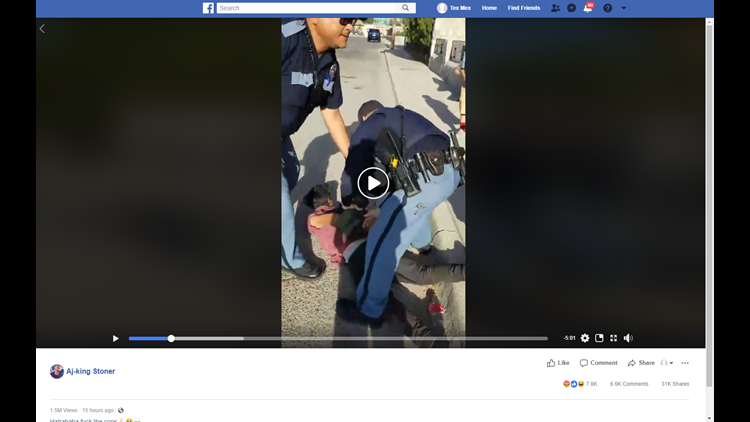El Paso police officer pulls gun on children in viral video on Facebook