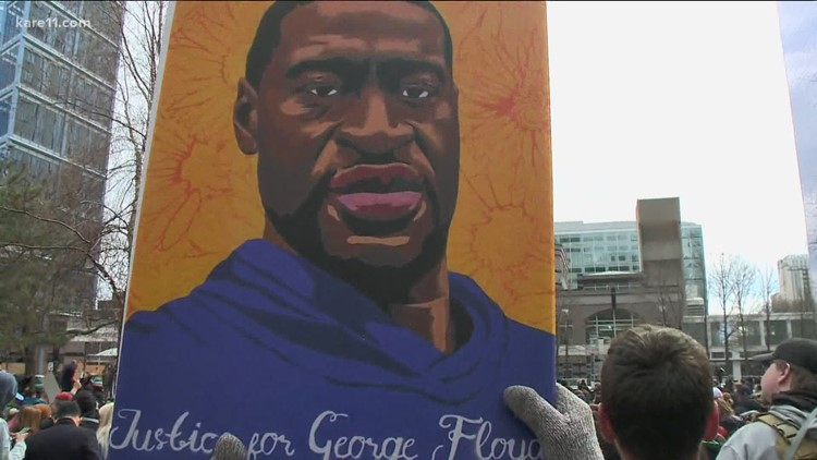 Emotional tributes and a White House meeting mark one year since the killing of George Floyd