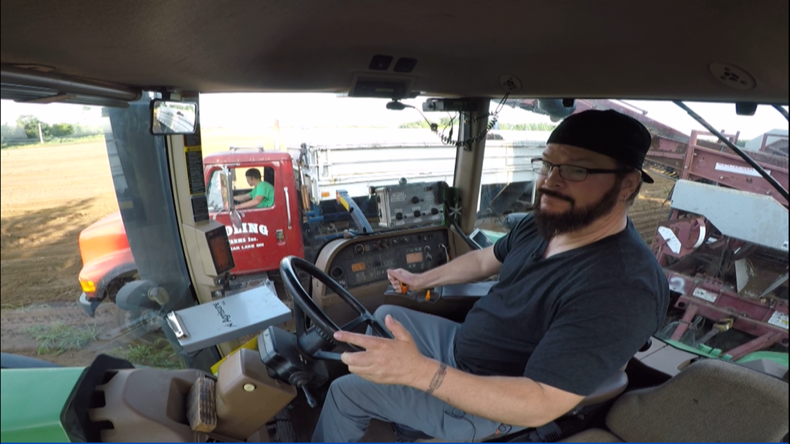 Paralyzed farmer is back on tractor for harvest