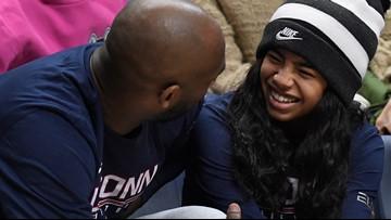 UConn Huskies honor Gianna Bryant, leave spot open on bench