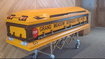 Longtime Minnesota school bus driver will be laid to rest in custom casket