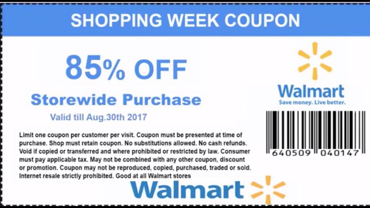 Verify Is Viral 85 Percent Off Walmart Coupon A Giant Scam Abc10 Com