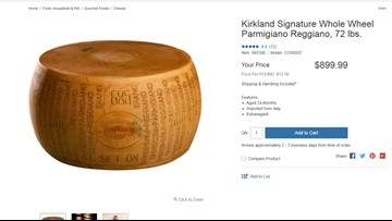 Costco offering 72-pound cheese wheel for a cool $900