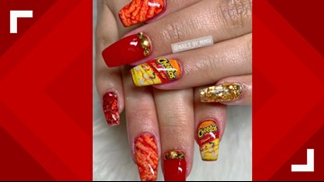 These nail designs are 'flamin' hot'