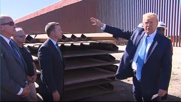 President Trump visits U.S., Mexico border at Otay Mesa