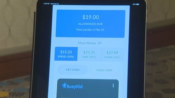 BusyKid app teaches kids money management with chore earnings