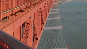 Portland company building suicide prevention net for Golden Gate Bridge