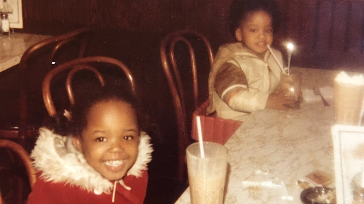 Ebony Sloan Clarke and her brother
