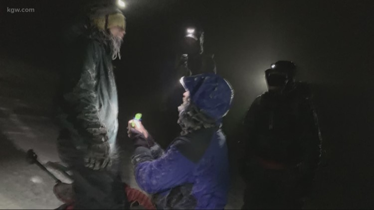 Wedding proposal on Mount Hood