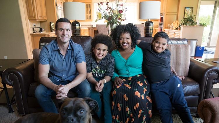 Ebony Sloan Clarke with her husband and 3 kids.