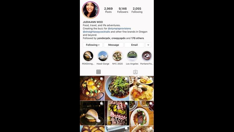 Judiaann's Instagram page