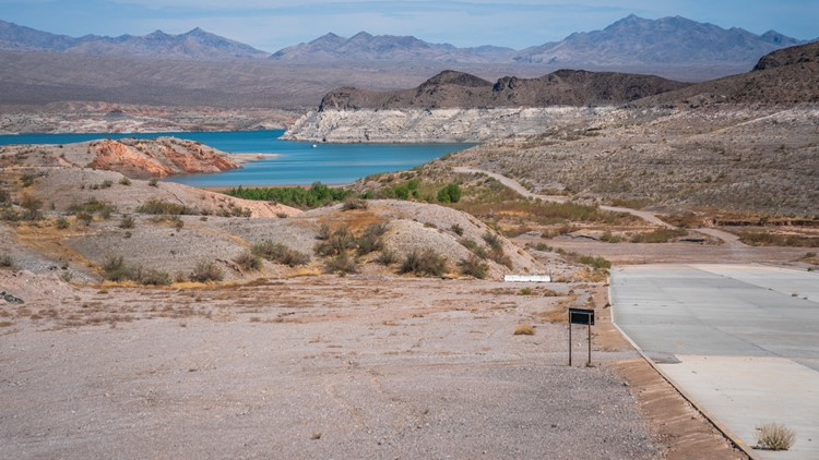 Dry farmland and a defunct resort; the repercussions of Lake Mead's water shortage