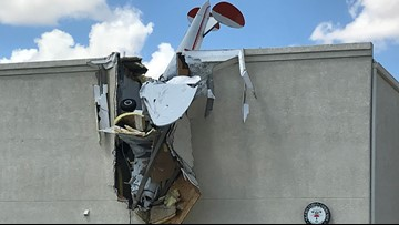 Two injured after plane crashes into Arizona airport building