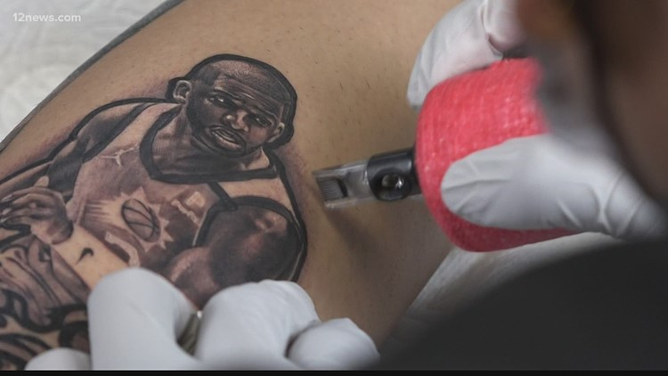 Fans get Phoenix Suns tattoos as team fights for first championship