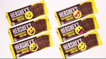 Hershey's chocolate bars get moody with emojis