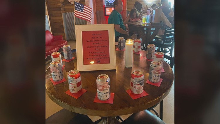 Illinois restaurant's tribute to 13 service members killed in Kabul goes viral