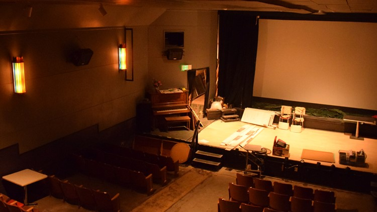 Saguache Theatre from above