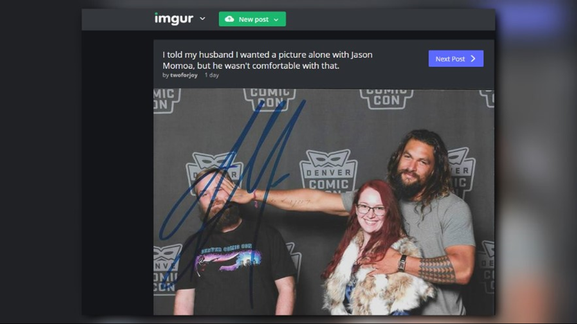 Gas Prices In California >> This fan's Denver Comic Con photo with Jason Momoa might be the best thing you'll see today ...