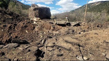 Boulder that destroyed SW Colorado highway will be the state's newest landmark
