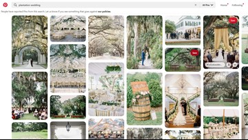 Pinterest to stop promoting plantation wedding content