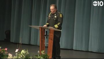 Deputy Hinostroza Funeral: Sheriff Christianson remembers his friend