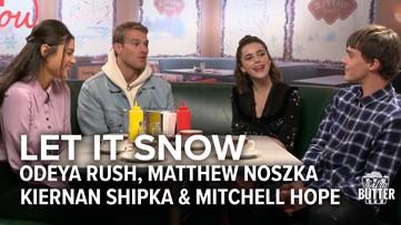 Let it Snow: Netflix movie interview   Odeya Rush, Matthew Noszka, Kiernan Shipka & Mitchell Hope