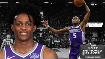 Kings' De'Aaron Fox among finalists for NBA's most improved players