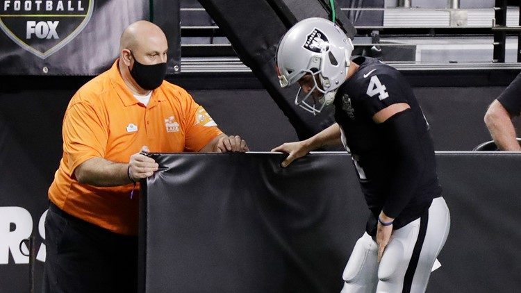 Gruden optimistic Carr can start for Raiders